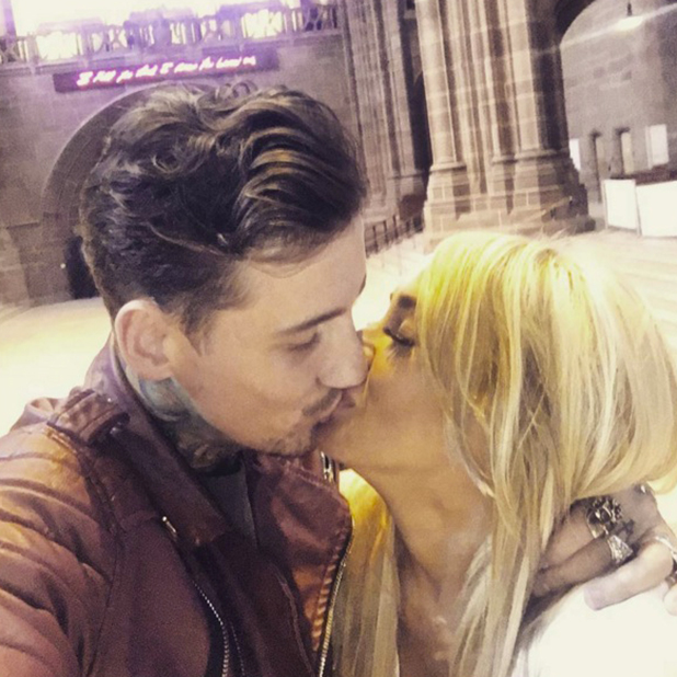 Stephanie Davis and Jeremy McConnell kiss at David Gest's birthday 3 April 2016