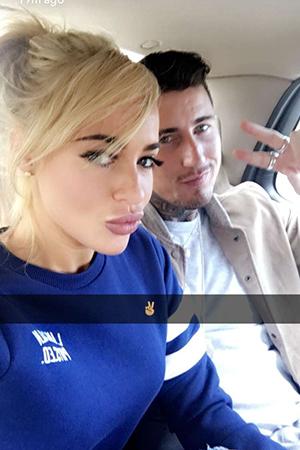 Stephanie Davis and Jeremy McConnell, Snapchat, 4 April 2016