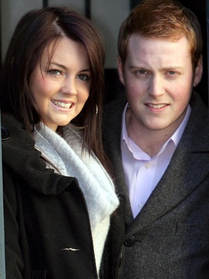 Bradley Branning (Charlie Clements) and Stacey Slater (Lacey Turner) visit a Dr Who Convention for an episode to be screened in February 2008. 3 Dec 2007