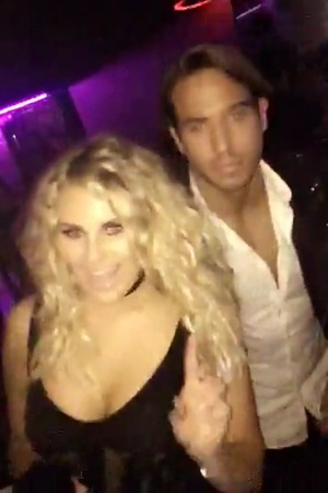 Danielle Armstrong and James 'Lockie' Lock in new Snapchat. 10 April 2016.