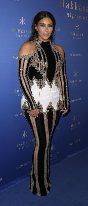 Kim Kardashian makes first red carpet debut since giving birth to son Saint West at Hakkasan nightclub in Las Vegas, 8th April 2016