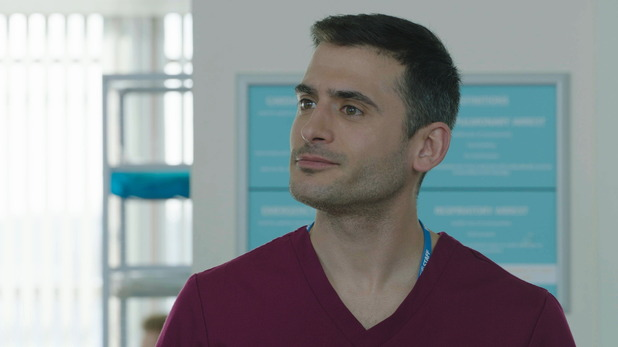 Marc Elliott joins Holby City as doctor Issac Mayfield. 13 April 2016.