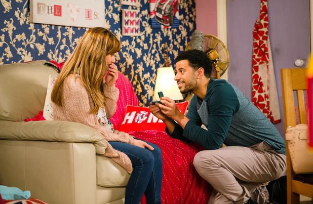 Corrie, Luke proposes to Maria, Fri 15 Apr