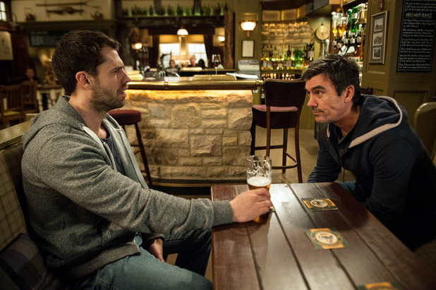 Emmerdale, Cain threatens Andy, Wed 20 Apr
