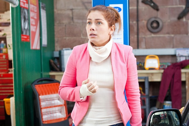 Hollyoaks, Maxine worried about the police, Fri 15 Apr