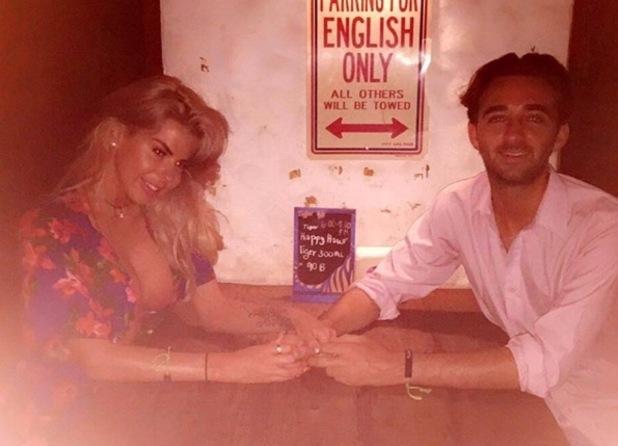 Hannah Elizabeth and boyfriend George Andreetti on a date, Phuket Thailand 13 April
