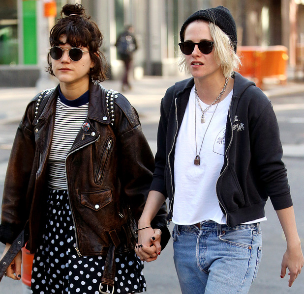 Kristen Stewart shows off her new blonde hair alongside girlfriend Soko in New York, 12th April 2016