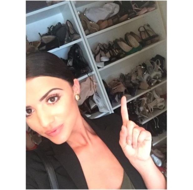 Former TOWIE star Lucy Mecklenburgh shares picture of her 225 pairs of shoes on Instagram, 14th April 2016