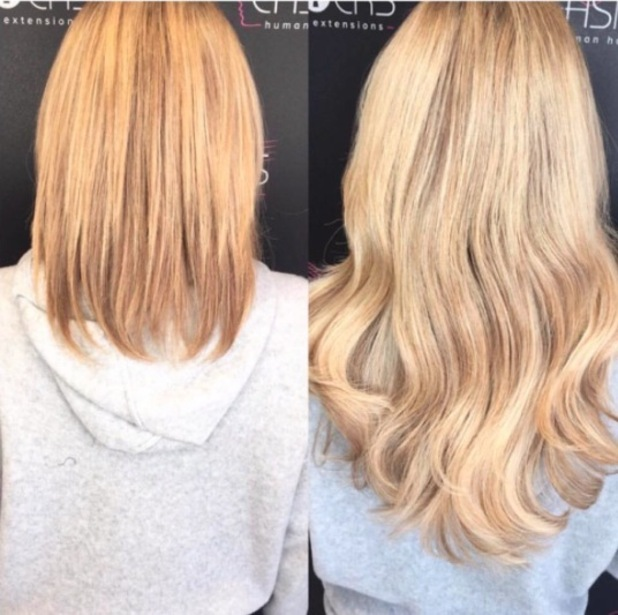 Danielle Armstrong shows off her much shorter, natural hair in Easilocks salon, 14th April 2016