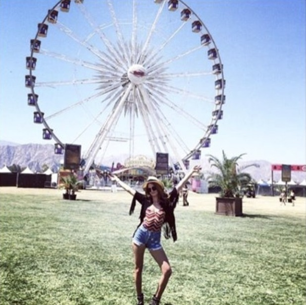 Millie Mackintosh #TBT to Coachella 2015, 14 April 2016