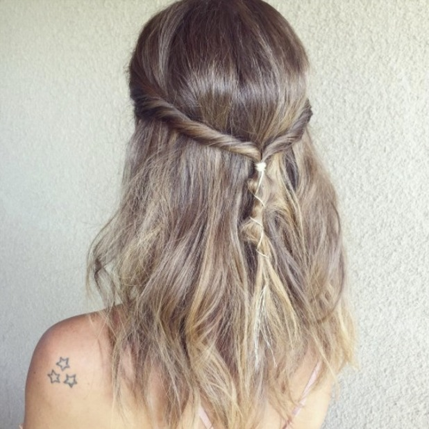 Millie Mackintosh shows off her hair for day one of Coachella festival, 15 April 2016