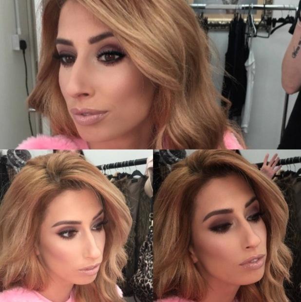 Stacey Solomon gets her make-up done by TOWIE make-up artist Krystal Dawn, Instagram, 14th April 2016