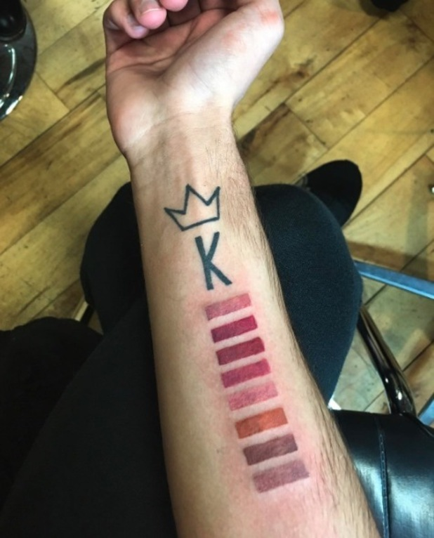 Kylie Jenner's superfan Johnny Cyrus gets another Lip Kit-inspired tattoo and flaunts it on Instagram, 15th April 2016