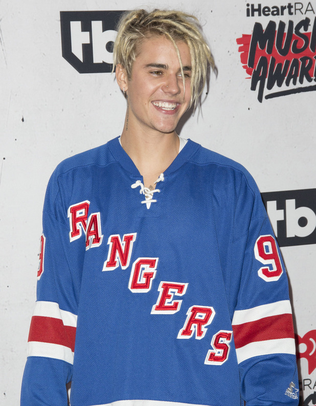 Justin Bieber at the iHeartRadio Music Awards at The Forum. April 2016.