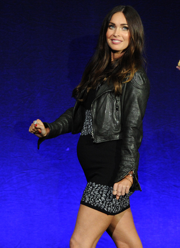 Pregnant Megan Fox attends CinemaCon Paramount Gala opening night event, Caesar's Palace, Las Vegas - 11 Apr 2016.