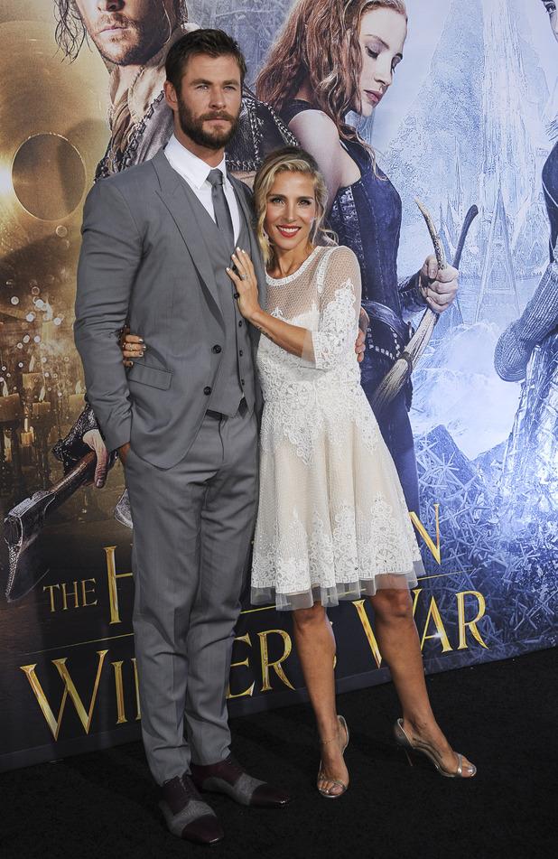 The Huntsman: Winter's War Premiere - Chris Hemsworth and Elsa Pataky. 12 April 2016.