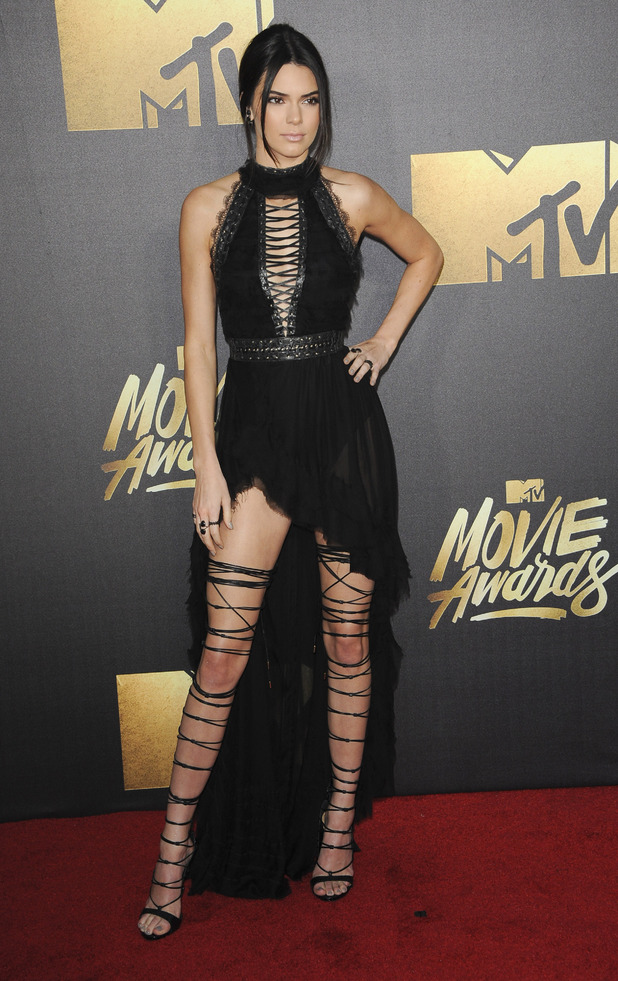 Kendall Jenner on the red carpet at the MTV Movie Awards, Los Angeles, 9th April 2016