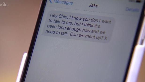 TOWIE Series finale 17 Jake texts Chloe, 13 April 2016