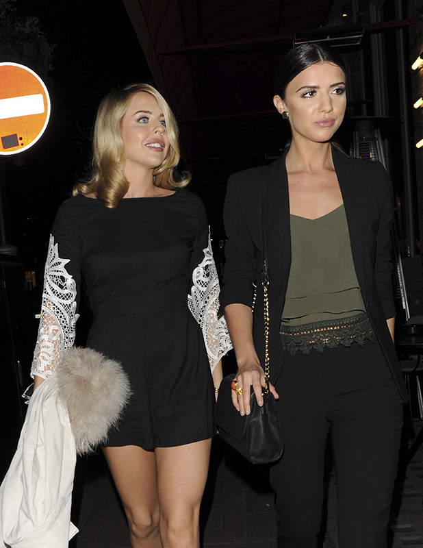Lucy Mecklenburgh and Lydia Bright At Sexy Fish Restaurant in Mayfair 14 April 2016
