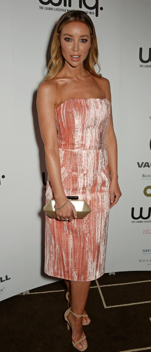 Former TOWIE star Lauren Pope attends the in aid of the Winq Spring Ball Elton John AIDS Foundation, 16th April 2016