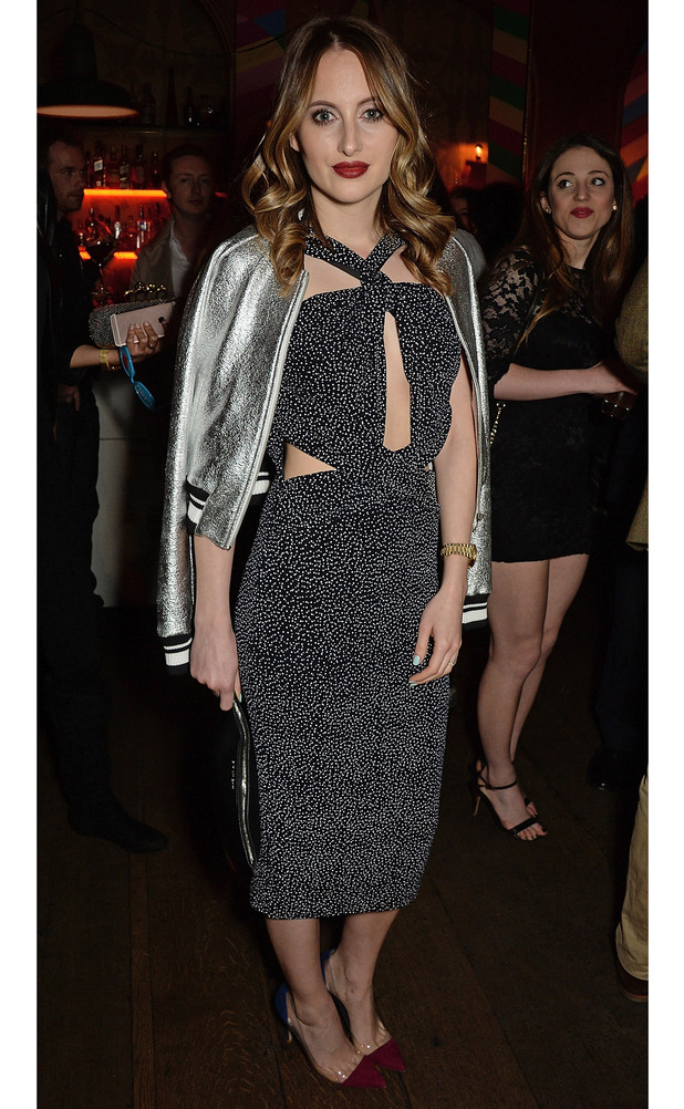 Made In Chelsea's Rosie Fortescue attends the launch of Ciao, a dating app, London, 22nd April 2016