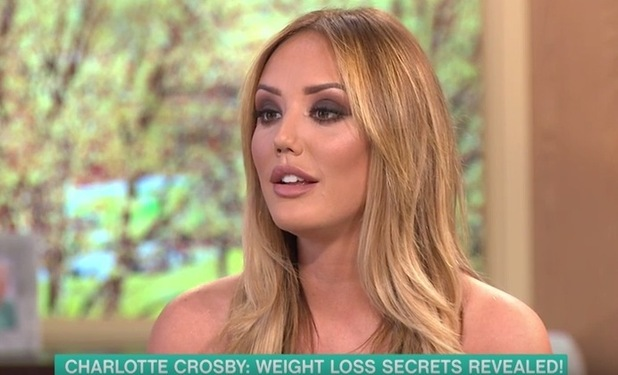 Charlotte Crosby appears on ITV's This Morning 19 April