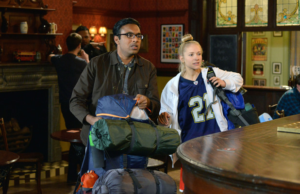EastEnders, Nancy and Tamwar leave. Fri 22 Apr