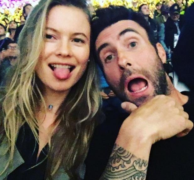 Behati Prinsloo and Adam Levine selfie 14 April