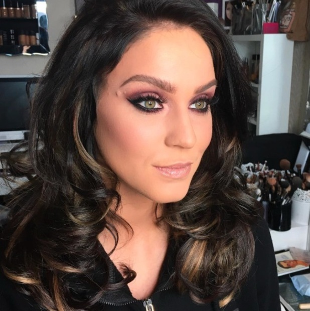 Vicky Pattison debuts much darker hair with blonde highlights, Instagram 18th April 2016