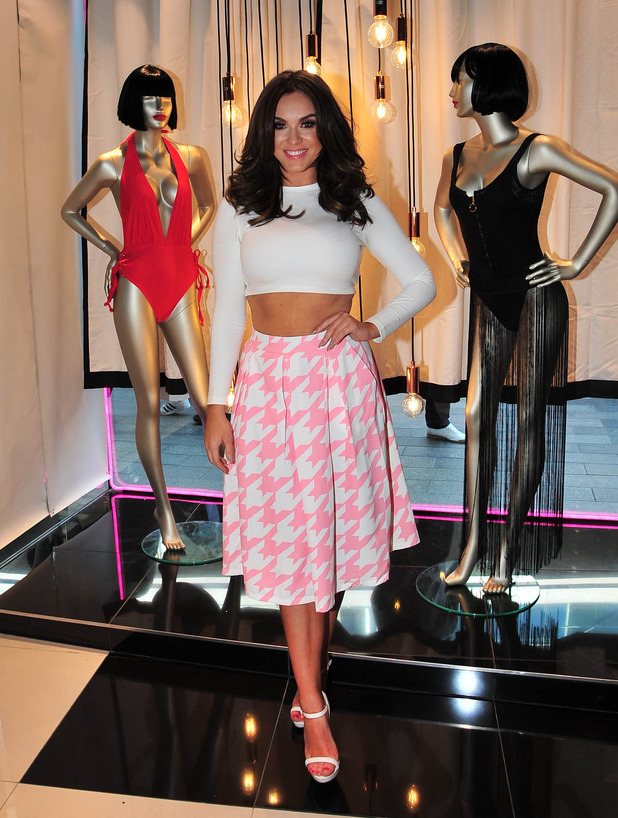 Vicky Pattison promotes her new line of swimwear for Ann Summers at Liverpool One shopping centre, 23 April 2016.