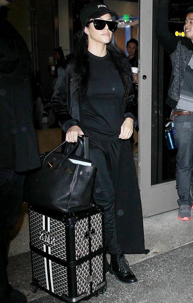 Kim and Kourtney Kardashian at LAX International Airport, Los Angeles, America - 20 Apr 2016