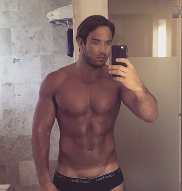 James Lock shows off tan lines, 20 April 2016