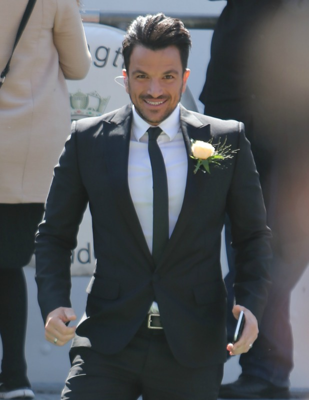 Peter Andre at the This Morning wedding 20 April 2016