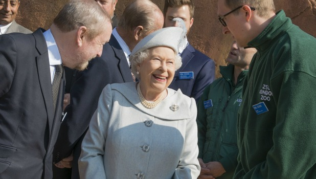 Queen Elizabeth II and Prince Philip, Duke of Edinburgh unveil Land of the Lions March 2016