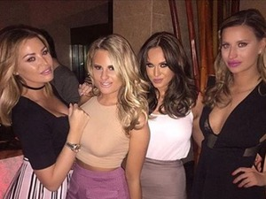 """Ferne McCann joined by """"squad"""" of famous BFFs for ladies' night"""