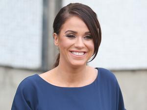Vicky Pattison outside ITV studios. 23 February 2016.