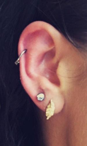 Imogen Townely gets two new ear piercings 22 April