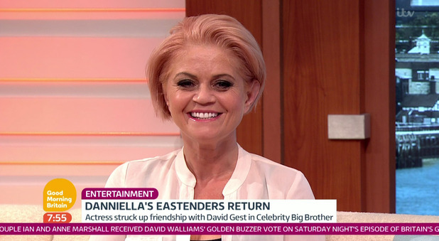 Danniella Westbrook on Good Morning Britain. 25 April 2016.