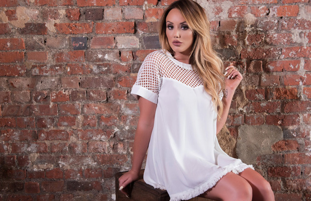 Geordie Shore star Charlotte Crosby unveils her new spring summer line with In The Style, white mesh dress, 26th April 20167