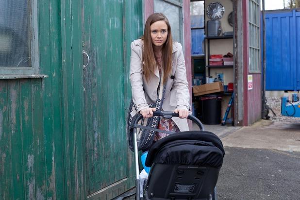 Hollyoaks, Kim tries to take JJ, Tue 3 May