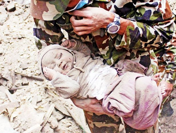 Sonies Aawal was pulled from the rubble 22 hours after the Nepal earthquake hit