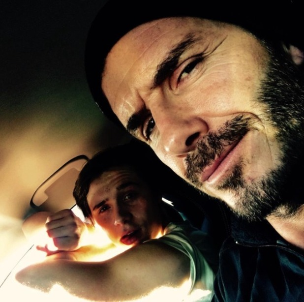 David Beckham takes son Brooklyn out for a driving lesson