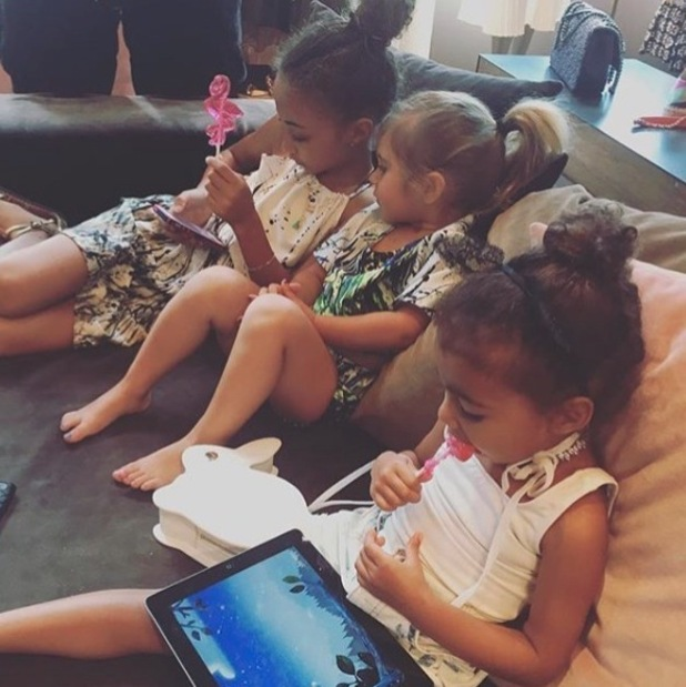 Penelope Disick wears her hair in a high ponytail, 29th April 2016