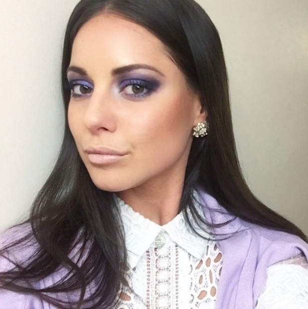 Made In Chelsea's Louise Thompson shows off her stunning eye make-up look after revealing that she used a high-street palette, 28th April 2016