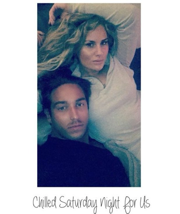 TOWIE's Danielle Armstrong and James 'Lockie' Lock bed selfie.