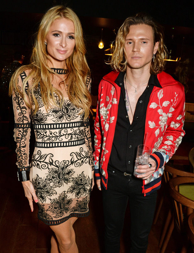 Paris Hilton and McFly's Dougie Poynter attend Our Restaurant dinner in London, 17th April 2016