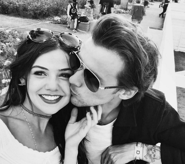 Louis Tomlinson and Danielle Campbell in selfie from Coachella, April 2016