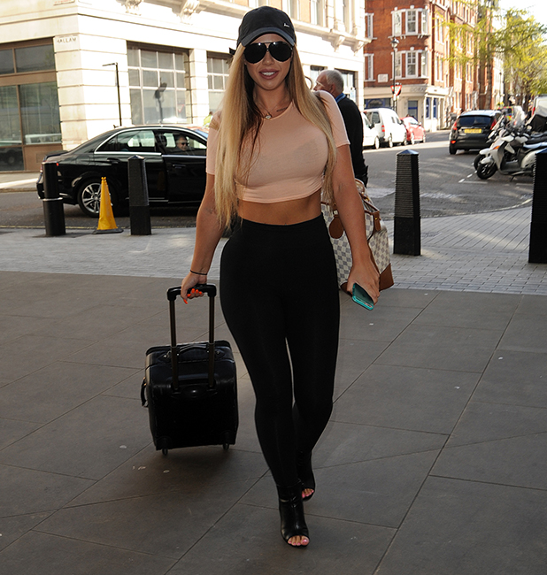 'Geordie Shore' stars Holly Hagan and Marnie Simpson arrive at BBC Radio 1 to appear on The Scott Mills Show 26 April 2016