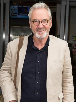 Larry Lamb pictured arriving at the Radio 2 studio 9 April 2016.
