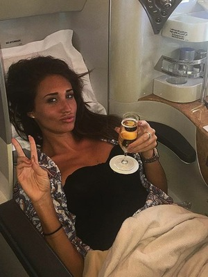 Megan Mckenna flying home from Dubai, Instagram, 6/5/16